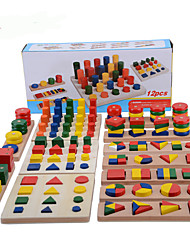 cheap -Montessori Teaching Tool Pegged Puzzle Math Toy 12 pcs compatible Legoing Cool Education Boys' Girls' Toy Gift / Kid's