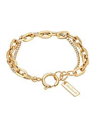 cheap -Women's AAA Cubic Zirconia Chain Bracelet Single Strand Imagine Simple Punk Trendy Copper Bracelet Jewelry Black / Gold For School Work Festival