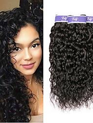 Недорогие -3 Связки Малазийские волосы Волнистые Необработанные натуральные волосы 150 g Человека ткет Волосы Удлинитель Пучок волос 8-28 дюймовый Нейтральный Ткет человеческих волос Легко для того чтобы снести