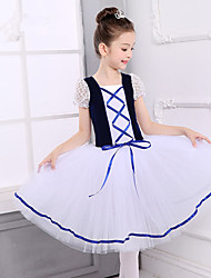 cheap -Ballet Dresses Girls' Training / Performance Cotton / Lace / Goose Down Lace / Bandage Short Sleeve Dress