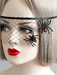 Недорогие -Жен. Маски Назначение Для вечеринок Halloween Для клуба Тату с животными Классический Резина Черный 1