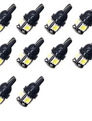 Недорогие -10 шт. T10 192 194 168 w5w светодиодные лампы 5 smd 5050 автомобилей задние фонари купольная лампа освещения номерного знака белый dc 12 В 1 Вт