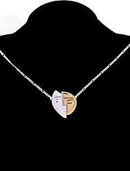 cheap -Women's Pendant Necklace Necklace Classic Heart Simple Fashion Modern Cute Chrome Silver 63.5 cm Necklace Jewelry 1pc For Daily