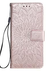 Недорогие -чехол для huawei honor 8a huawei y7 2019 чехол для телефона искусственная кожа материал с тиснением дурман цветы шаблон сплошной цвет чехол для телефона