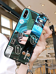cheap -Samsung For Galaxy S10E/S10/S10 Plus Blu-ray camera S9/S9 Plus with wrist S8/S8 Plus Cartoon S7/S7 Edge Four-side Anti-drop Mobile Phone Case