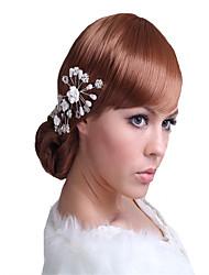 cheap -Rhinestone / Alloy Flowers with Rhinestone / Crystal / Rhinestone / Floral 1 Piece Wedding Headpiece