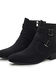 cheap -Men's Suede Shoes Suede Fall & Winter Vintage / British Boots Walking Shoes Warm Mid-Calf Boots Black / Fashion Boots
