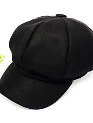 cheap -Women's Basic Cute Cotton Beret Hat-Color Block All Seasons Black Red Gray