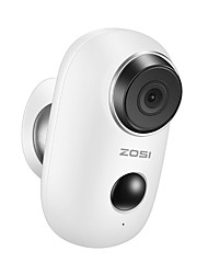 cheap -ZOSI WiFi 2MP 1080P Camera Rechargeable Battery Powered 1080P Full HD Outdoor Indoor IP65 Weatherproof Security Wireless IP Camera