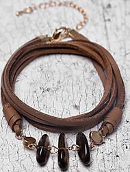 cheap -Women's Wrap Bracelet Vintage Bracelet Earrings / Bracelet Vintage Style Weave Lucky Vintage Trendy Ethnic Fashion Boho Stone Bracelet Jewelry Coffee For Daily / Loom Bracelet