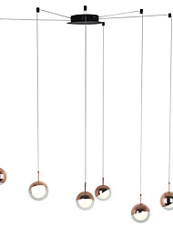 cheap -6-Light Modern Chandelier 6 Lights Hanging Lamp Dropping Pendant Ceiling Fixture Led Integrated Bulbs Included for Kichten Dinning Living Office Cafe Room