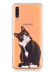 Недорогие -чехол для samsung galaxy a40 (2019) / galaxy a50 (2019) / a70 (2019) выкройка задней обложки черная кошка ТПУ для a10 (2019) / a20 (2019) / a30 (2019) / a8 (2018) / a7 (2018) / а6 (2018)