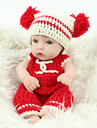 cheap -10 inch Reborn Doll Reborn Toddler Doll Baby Boy Baby Girl Safety Gift Cute Full Body Silicone with Clothes and Accessories for Girls' Birthday and Festival Gifts / Kids