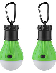 cheap -2pcs 3 W Waterproof / Creative / Dimmable White Batteries Powered Outdoor Lighting / Swimming pool / Outdoor Camping Light Hook Portable LED Tent Light Mini Camping Light / Courtyard 3 LED Beads