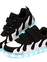cheap -Boys' LED / LED Shoes / USB Charging PU Sneakers Big Kids(7years +) Sequin / LED / Luminous White / Black / Pink Fall / Winter / Rubber