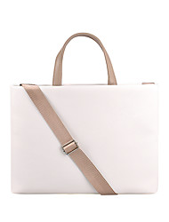 cheap -Unisex PU Laptop Bag Zipper Solid Color Daily Office & Career Pink Beige