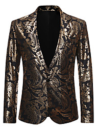 cheap -Tuxedos Tailored Fit / Standard Fit Notch Single Breasted One-button Cotton Blend / Cotton / Polyester Snake Print