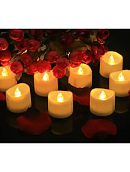 abordables -24pcs batterie bougies sans flamme led lumières de thé scintillant longue durée de vie de la batterie chaud blanc réaliste pour table de mariage cadeau célébration
