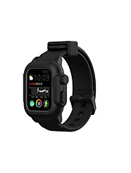 cheap -Smart Watch Band for Apple iWatch 1 pcs Sport Band Silicone Replacement  Wrist Strap for Apple Watch Series SE / 6/5/4/3/2/1 40mm 44mm