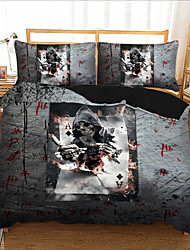 cheap -Home Textiles 3D Bedding Set  Duvet Cover with Pillowcase 2/3pcs Bedroom Duvet Cover Sets  Bedding skull