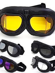 cheap -Angled Retro Vintage Motorcycle Helmet Eyewear Goggles Riding Glasses Windproof Waterproof - Transparent