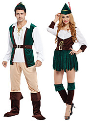 cheap -Roronoa Zoro Cosplay Costume Outfits Masquerade Adults' Couple's Cosplay Halloween Halloween Festival / Holiday Polyster Brown / Green Couple's Carnival Costumes