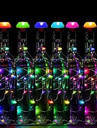 cheap -Wine Bottle Decoration Lamp 80cm String Lights Outdoor String Lights 9 LEDs Automatic Colorful Change Waterproof Solar Solar Powered 6pcs
