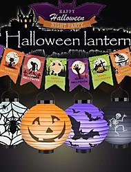 cheap -BRELONG Halloween Pumpkin Lantern Jack-O-Lanterns LED Lanterns Pumpkin Spider Bat Skeleton Lantern Lights for Halloween Party Festival Decoration 1pack