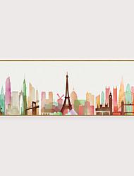 cheap -Framed Art Print Framed Set - Abstract Landscape PS Illustration Wall Art