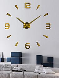 cheap -3D DIY Wall Clock Decor Sticker Mirror Frameless Large DIY Wall Clock Kit for Home Living Room Bedroom Office Decoration