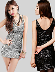 cheap -The Great Gatsby Retro Vintage 1920s Flapper Dress Masquerade Women's Sequins Sequin Costume Black / White / Purple Vintage Cosplay Party Halloween Sleeveless