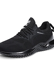 cheap -Men's Comfort Shoes Mesh Fall Casual Athletic Shoes Running Shoes Breathable Color Block Black / Black and White / Beige