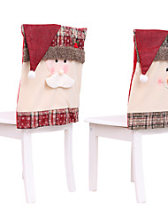 cheap -Christmas Chair Covers Decoration Dinner Chair Cap Sets Non-Woven  Hat Back Covers