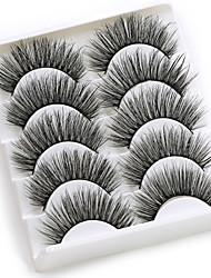 cheap -5 pairs 3D Mink Eyelashes Natural False Eyelashes Lashes Soft Fake Eyelashes Extension Makeup Wholesale