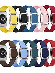 abordables -bracelet en cuir pour bracelet de montre apple 44 / 42mm bracelet style moderne bracelet accessoires pour iwatch series 5/4/3/2/1 40 / 38mm