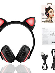 cheap -Bluetooth Stereo Cat Ear Headphones Flashing Glowing Cat Ear Headphones Gaming Headset Earphone 7 Colors LED Light