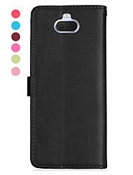 abordables -Coque Pour Sony Sony Xperia L3 / Sony Xperia 10 / Sony Xperia 10 Plus Magnétique / Mise en veille automatique Coque Intégrale Couleur Pleine faux cuir / TPU