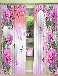 cheap -Flowers And White Three-Dimensional Bubble Digital Printing 3D Curtain Shading Curtain High Precision Black Silk Fabric High Quality Curtain