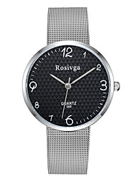cheap -Couple's Steel Band Watches Quartz Stainless Steel Silver No Chronograph Cute Casual Watch Analog New Arrival Minimalist - Silver Silver / Black One Year Battery Life