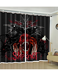 cheap -Halloween Curtain High Precision Black Silk Fabric High Quality Grade One Shade Bedroom Living Room Curtain