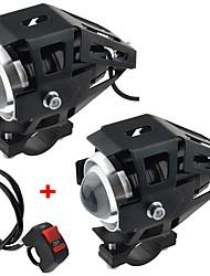 Недорогие -мотоцикл электрический автомобиль модифицированная лампа светодиодные лампы u5 трансформаторы лазерные пушки фары с сильным светом слабый свет вспышки 2 шт.