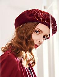 cheap -100% Wool Headwear with Pattern 1pc Casual / Daily Wear Headpiece