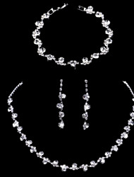 cheap -Women's Jewelry Set Bridal Jewelry Sets Luxury Elegant Korean Fashion Earrings Jewelry Silver For Wedding Anniversary Party Evening Engagement 1 set