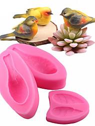Недорогие -3 шт. Набор 3d птица фондант силиконовые формы торт sugarcraft инструменты для украшения торта формы для выпечки