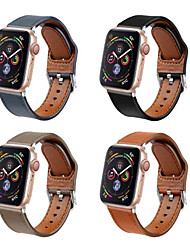 cheap -Genuine Leather Loop Strap For Apple Watch Band 44mm 40mm 42mm 38mm For iwatch Series 5/4/3/2/1 Watch Bracelet Accessories