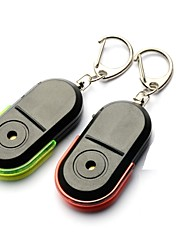 cheap -2PCS Portable Wireless Key Finder Whistle Sensor Anti-lost Alarm Sound LED Light Things Tracker Elderly Anti-lost Alarm Random Color