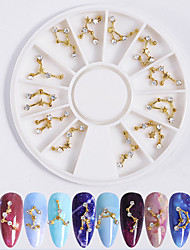 cheap -1 pcs Novelty Metalic Nail Jewelry For Finger Nail Romantic Series Creative nail art Manicure Pedicure Daily Simple