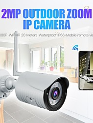 cheap -Wanscam K22 Wireless 1080P 2MP IP Camera 3.6mm Lens 6PCS LEDs Support 3x Digital Zoom (Out On APP) Night Vision Outdoor IP66 Waterproof Onvif Audio Night Vision Remote Access Motion Detection