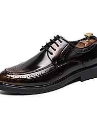 cheap -Men's Formal Shoes PU Spring & Summer / Fall & Winter Casual / British Oxfords Black / Gold / Red / Party & Evening