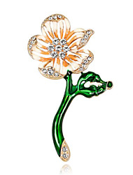 cheap -Women's Cubic Zirconia Brooches Geometrical Flower Stylish Brooch Jewelry Gold For Date Festival